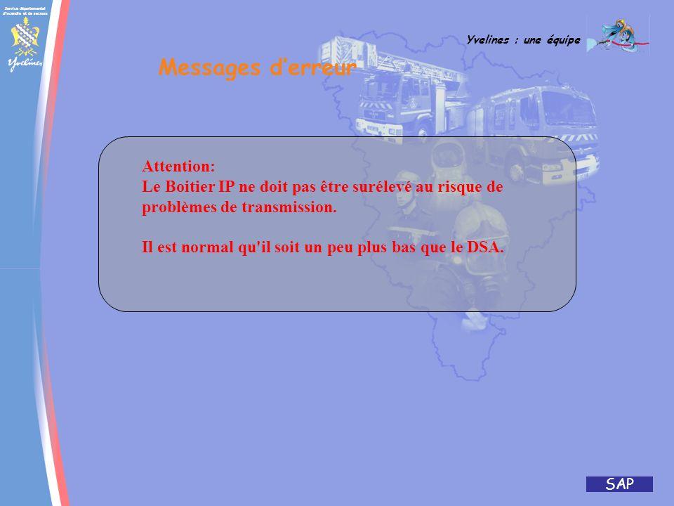 Messages d'erreur Attention: