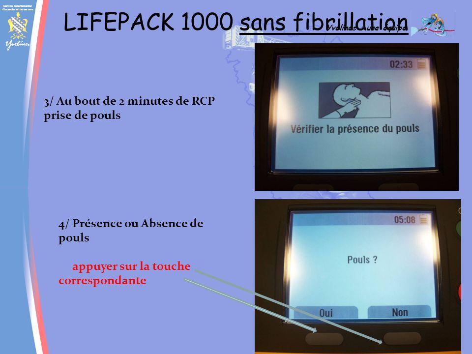 LIFEPACK 1000 sans fibrillation