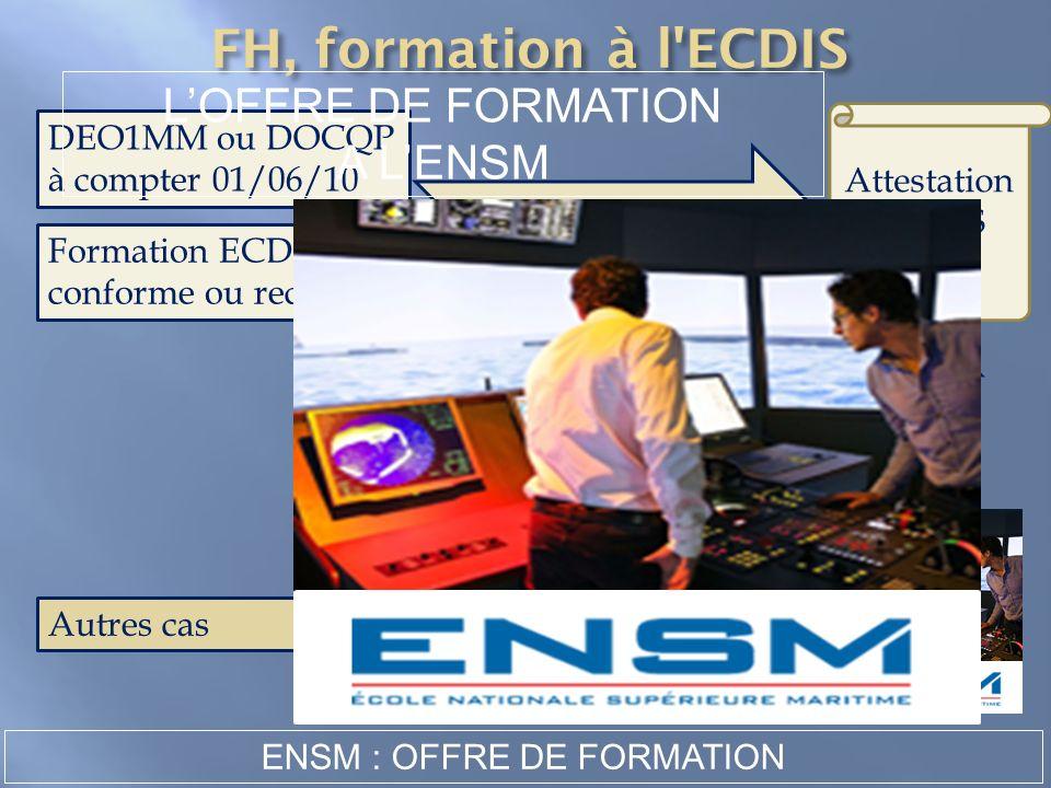 ENSM : OFFRE DE FORMATION