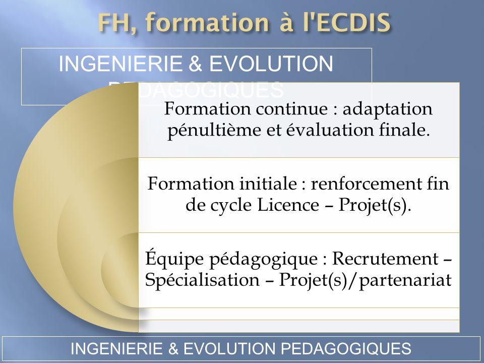 INGENIERIE & EVOLUTION PEDAGOGIQUES