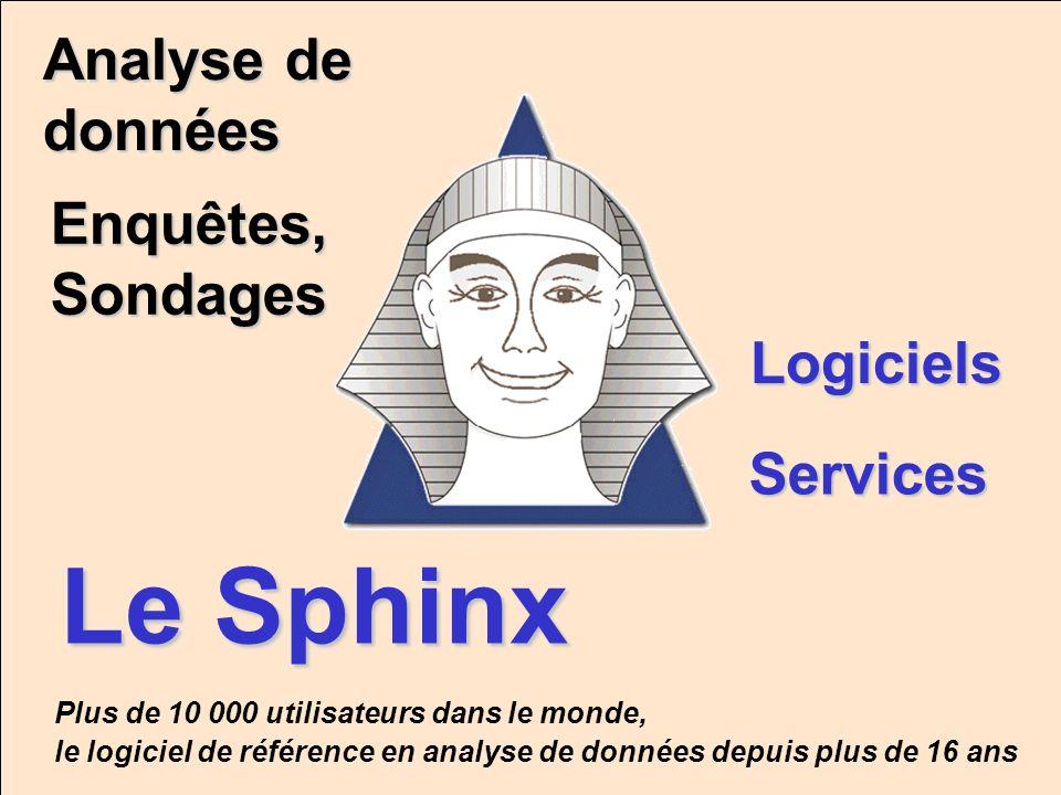 Le Sphinx Analyse de données Enquêtes, Sondages Logiciels Services