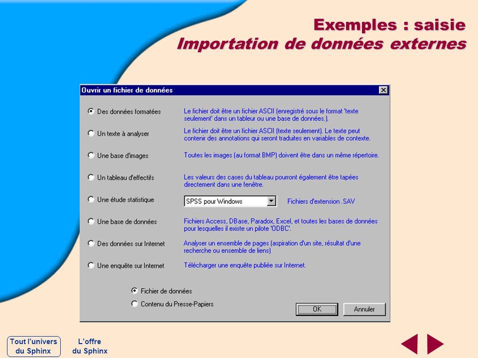 Importation de données externes