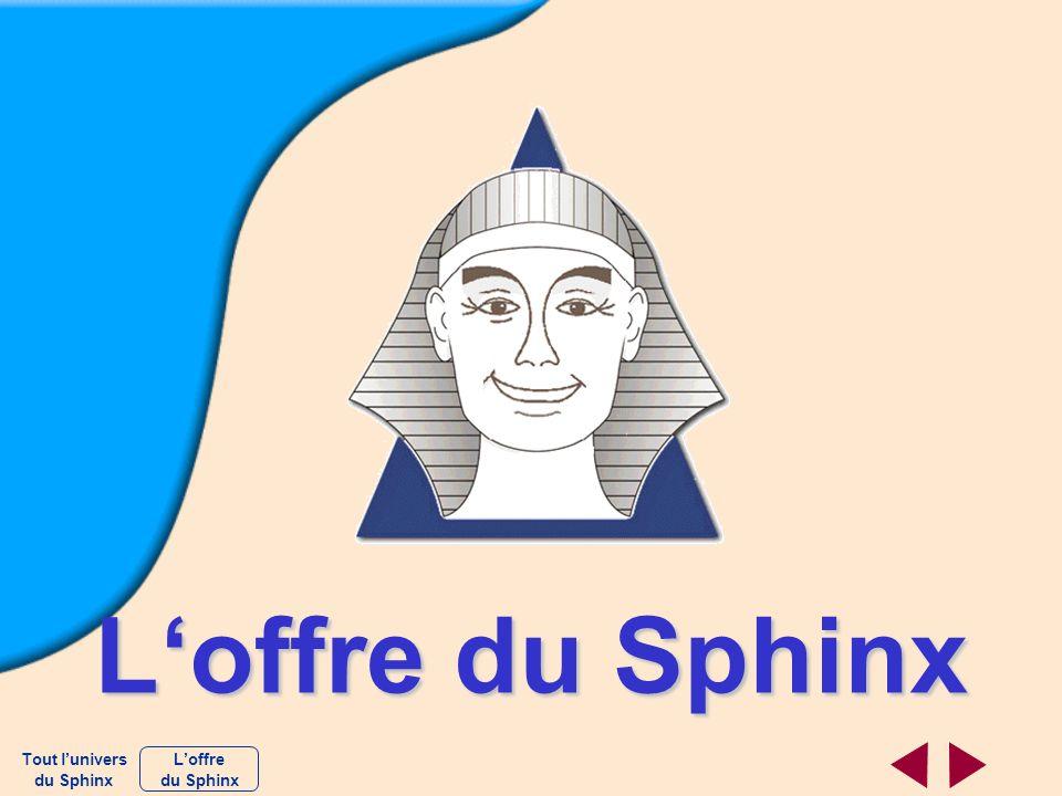 L'offre du Sphinx Tout l'univers du Sphinx L'offre du Sphinx