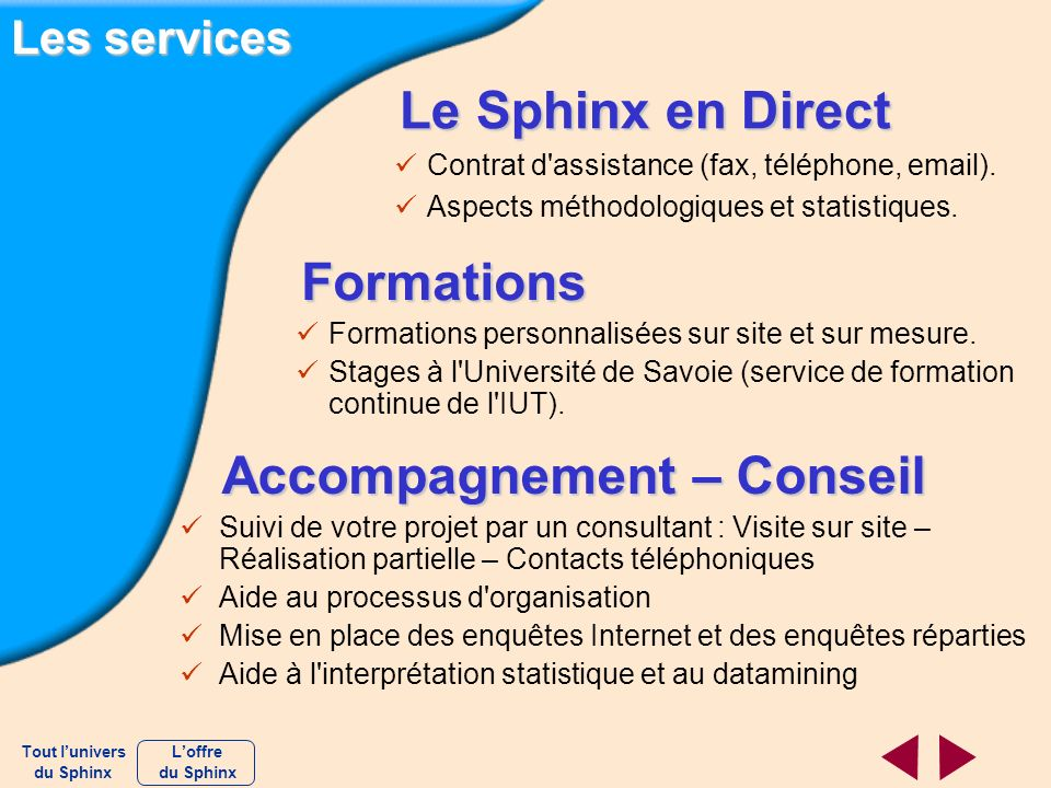 Accompagnement – Conseil