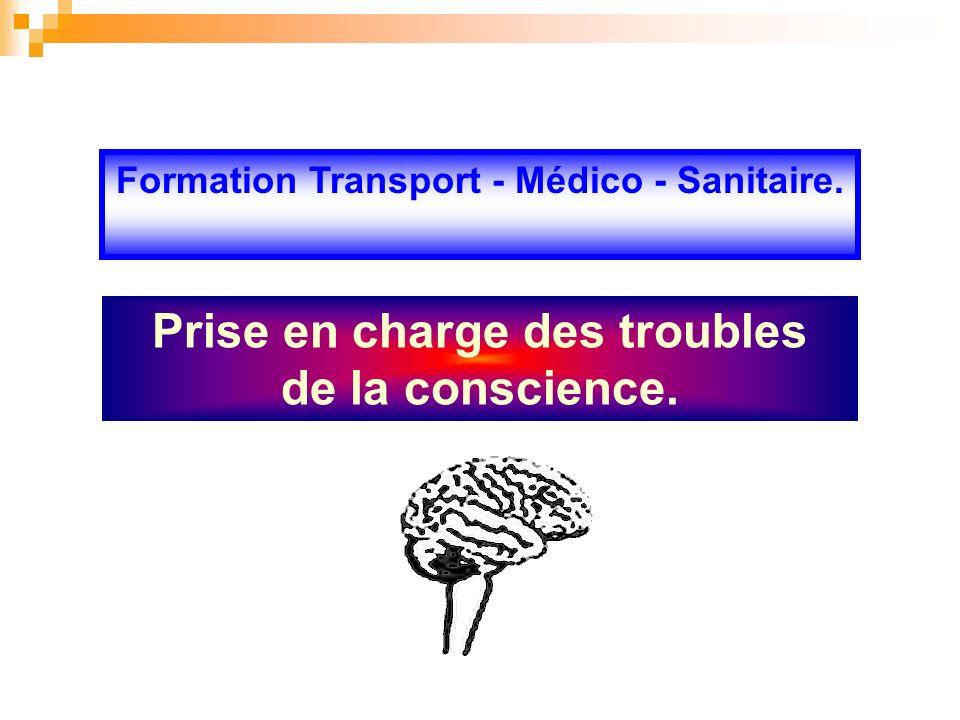 Formation Transport - Médico - Sanitaire. Prise en charge des troubles