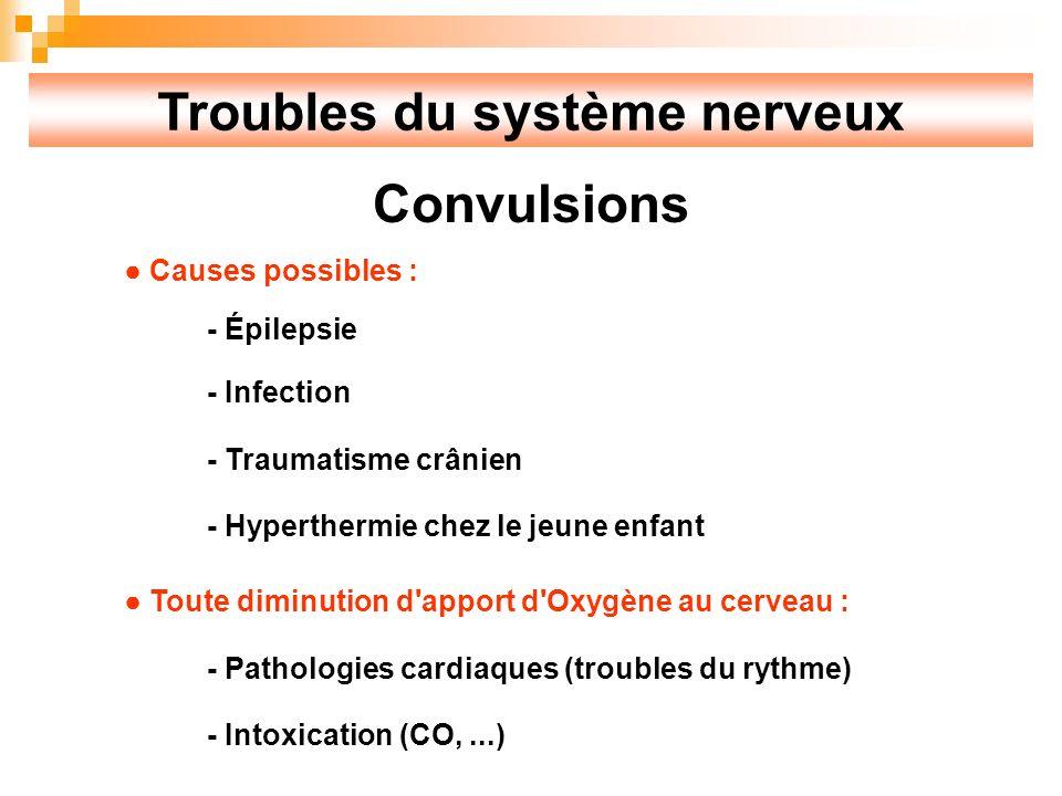 Troubles du système nerveux