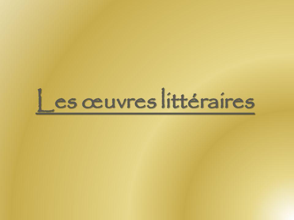 Les œuvres littéraires