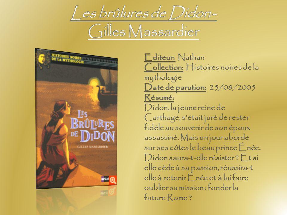 Les brûlures de Didon - Gilles Massardier