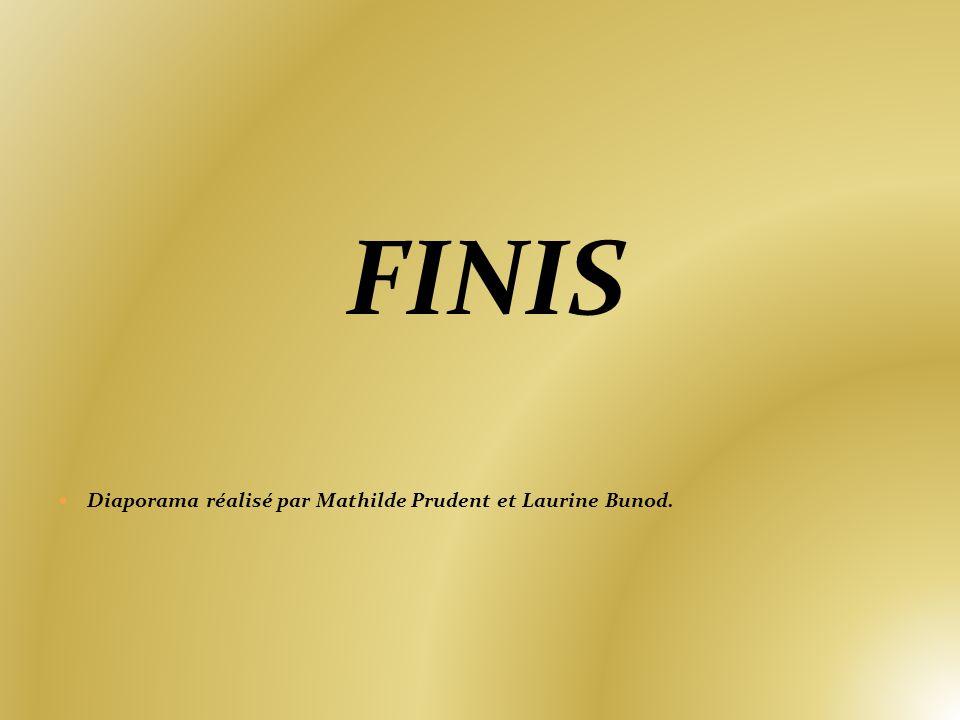 FINIS Diaporama réalisé par Mathilde Prudent et Laurine Bunod.
