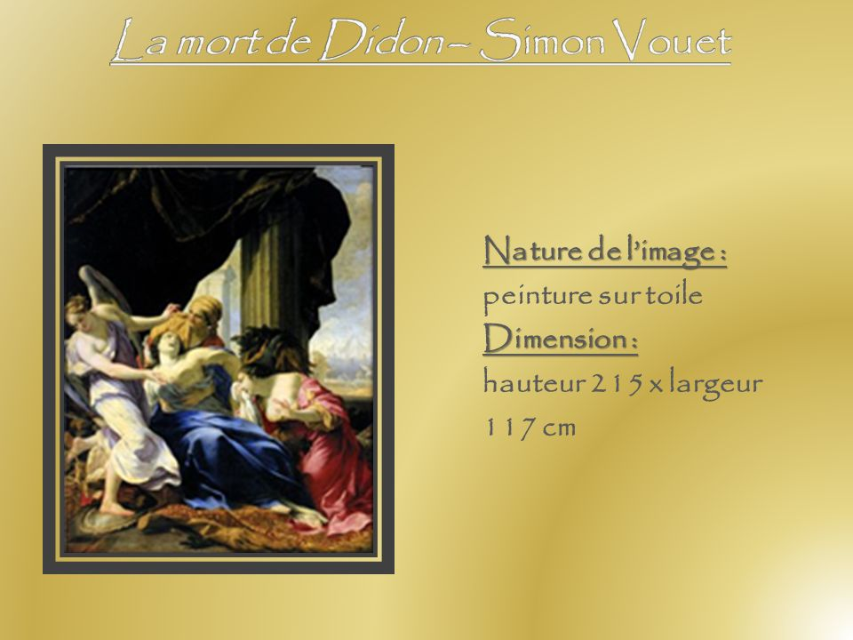 La mort de Didon – Simon Vouet