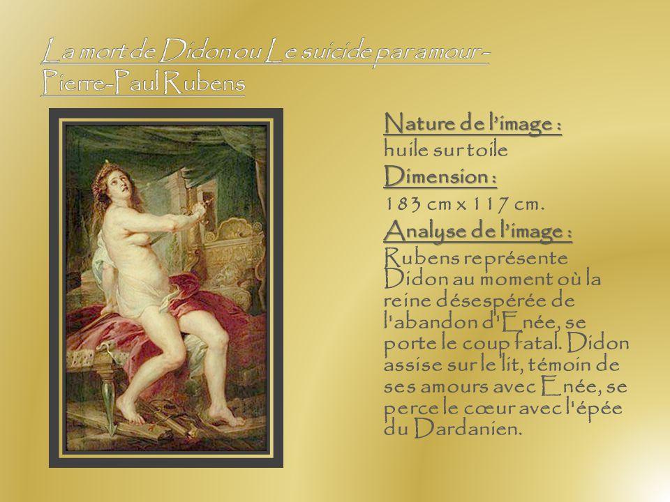 La mort de Didon ou Le suicide par amour - Pierre-Paul Rubens