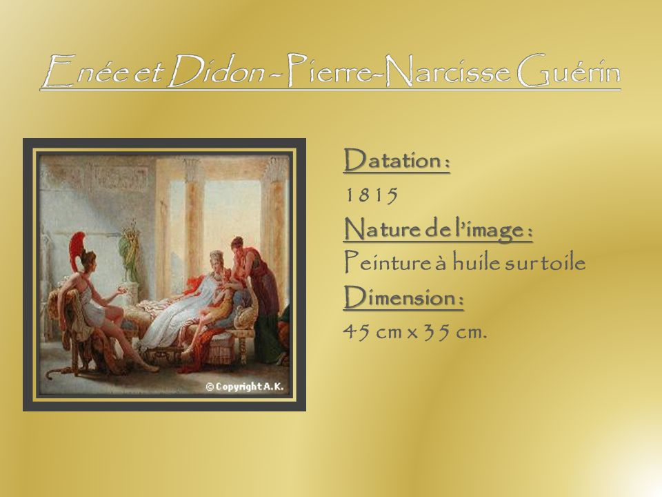 Enée et Didon - Pierre-Narcisse Guérin