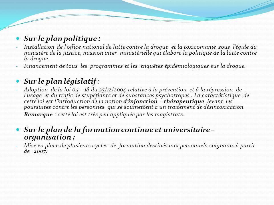 Sur le plan législatif :