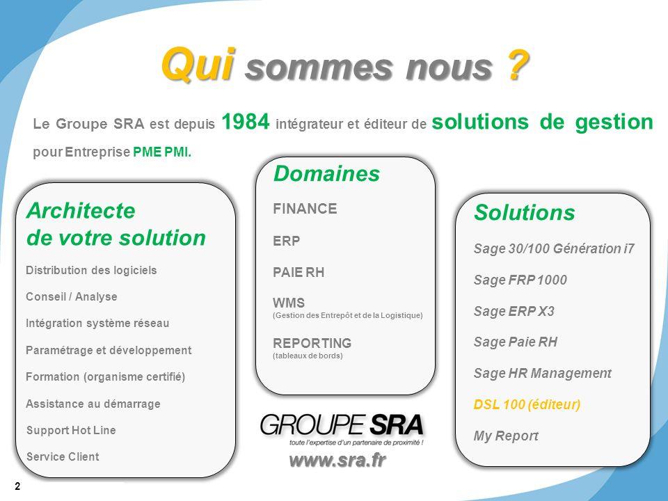 Qui sommes nous Domaines Architecte Solutions de votre solution