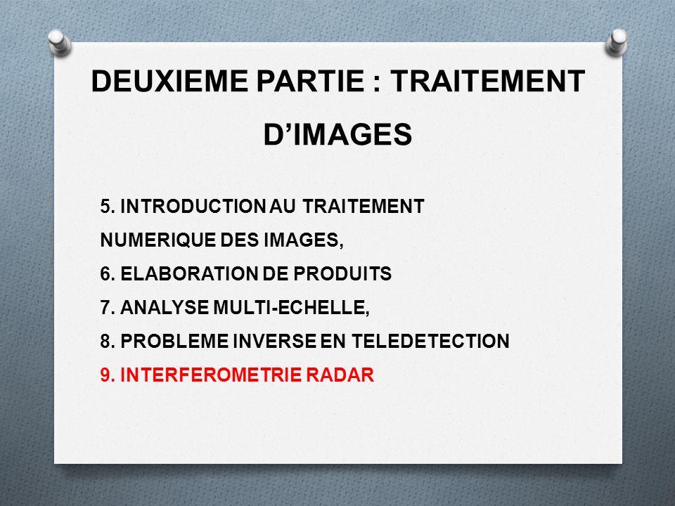DEUXIEME PARTIE : TRAITEMENT D'IMAGES