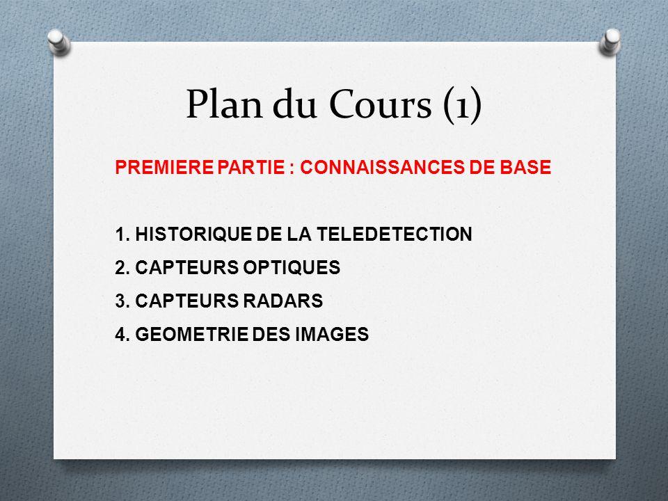Plan du Cours (1) PREMIERE PARTIE : CONNAISSANCES DE BASE