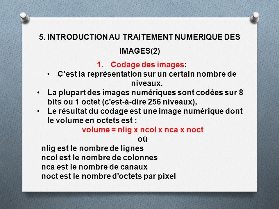 5. INTRODUCTION AU TRAITEMENT NUMERIQUE DES IMAGES(2)