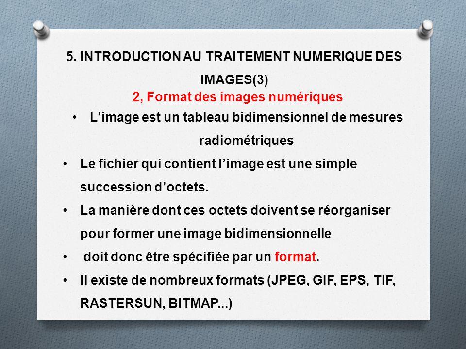5. INTRODUCTION AU TRAITEMENT NUMERIQUE DES IMAGES(3)