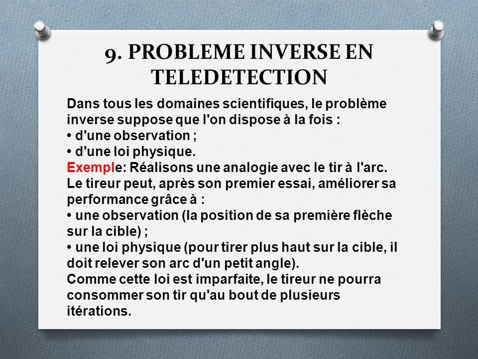 9. PROBLEME INVERSE EN TELEDETECTION