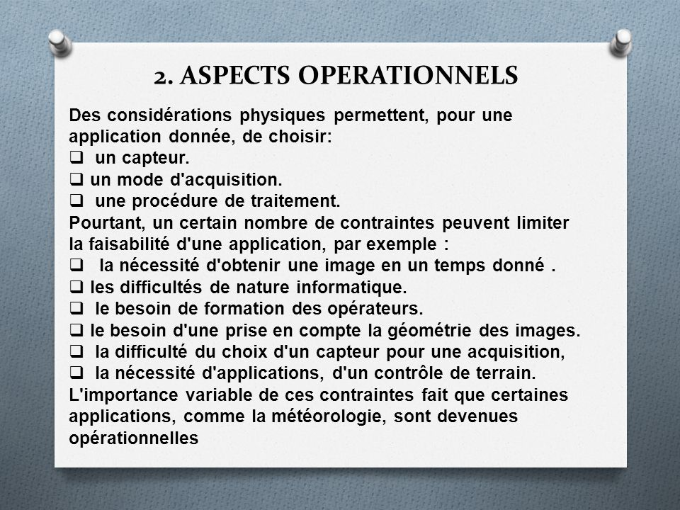 2. ASPECTS OPERATIONNELS