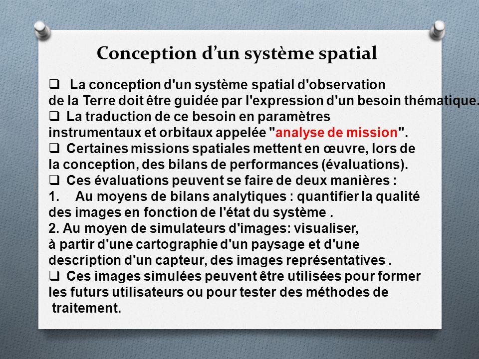 Conception d'un système spatial