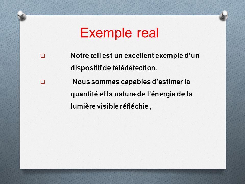 Exemple real Notre œil est un excellent exemple d'un dispositif de télédétection.