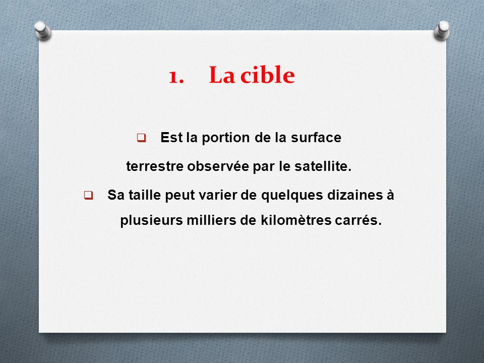 Est la portion de la surface terrestre observée par le satellite.