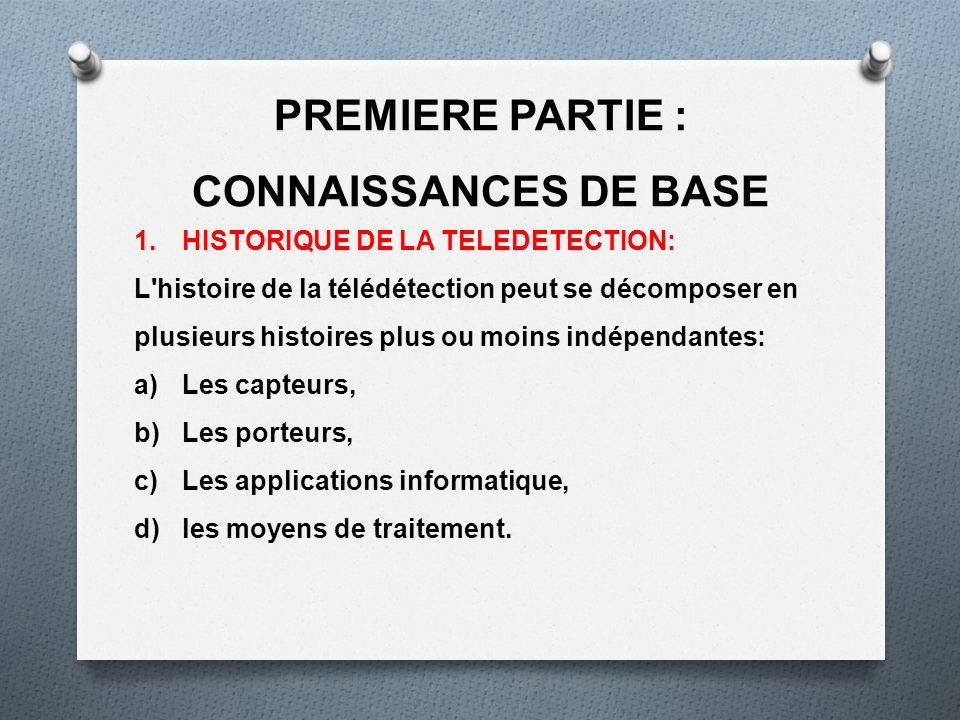 PREMIERE PARTIE : CONNAISSANCES DE BASE