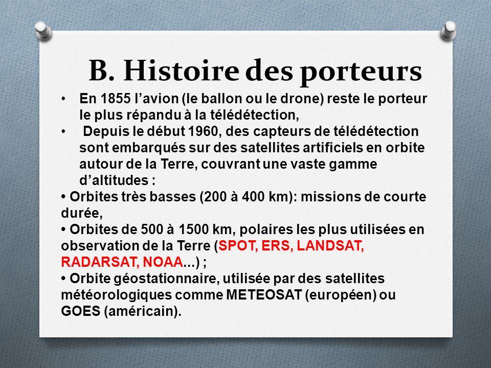 B. Histoire des porteurs