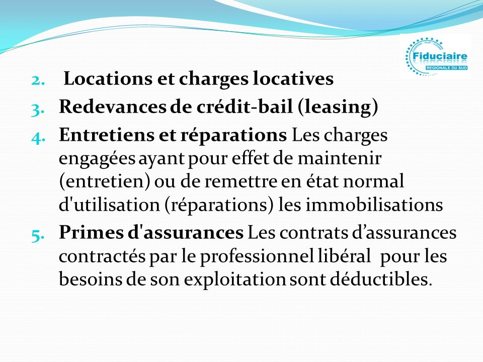 Locations et charges locatives