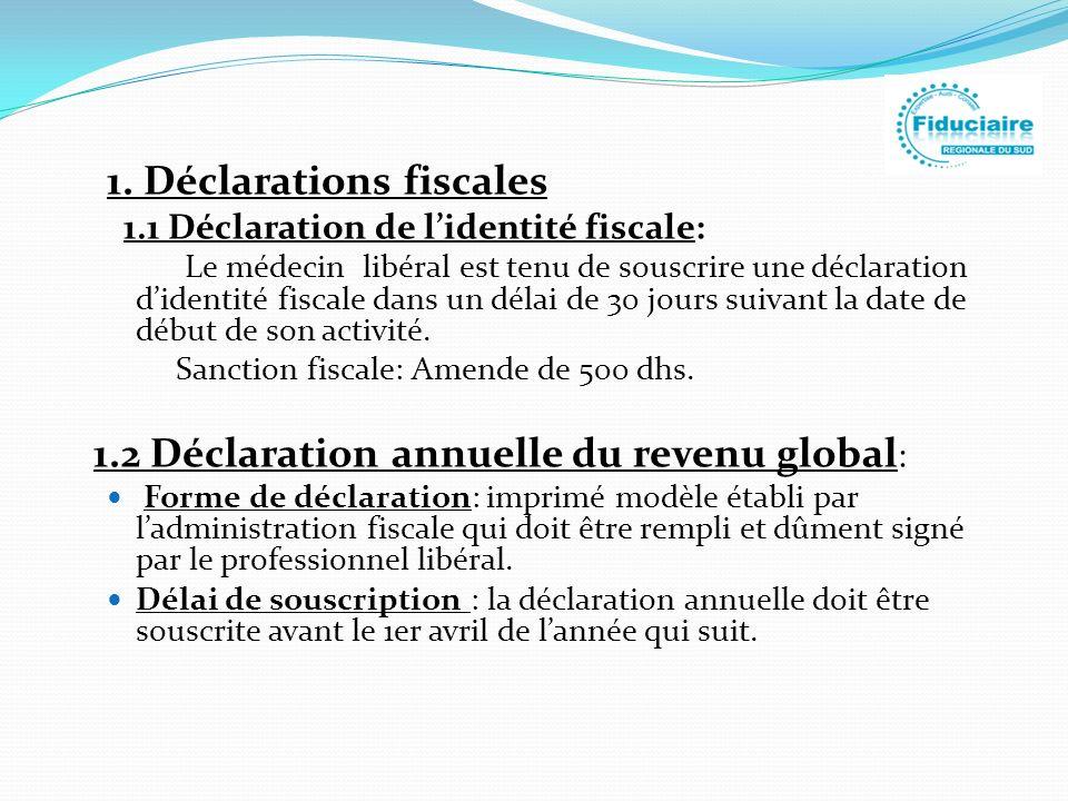 1. Déclarations fiscales