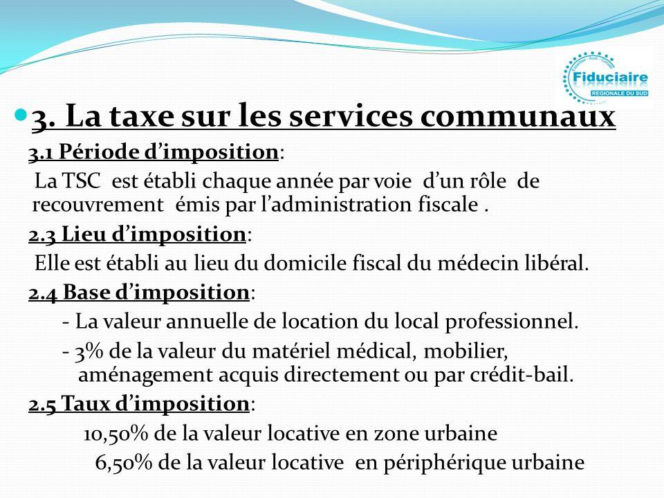 3. La taxe sur les services communaux