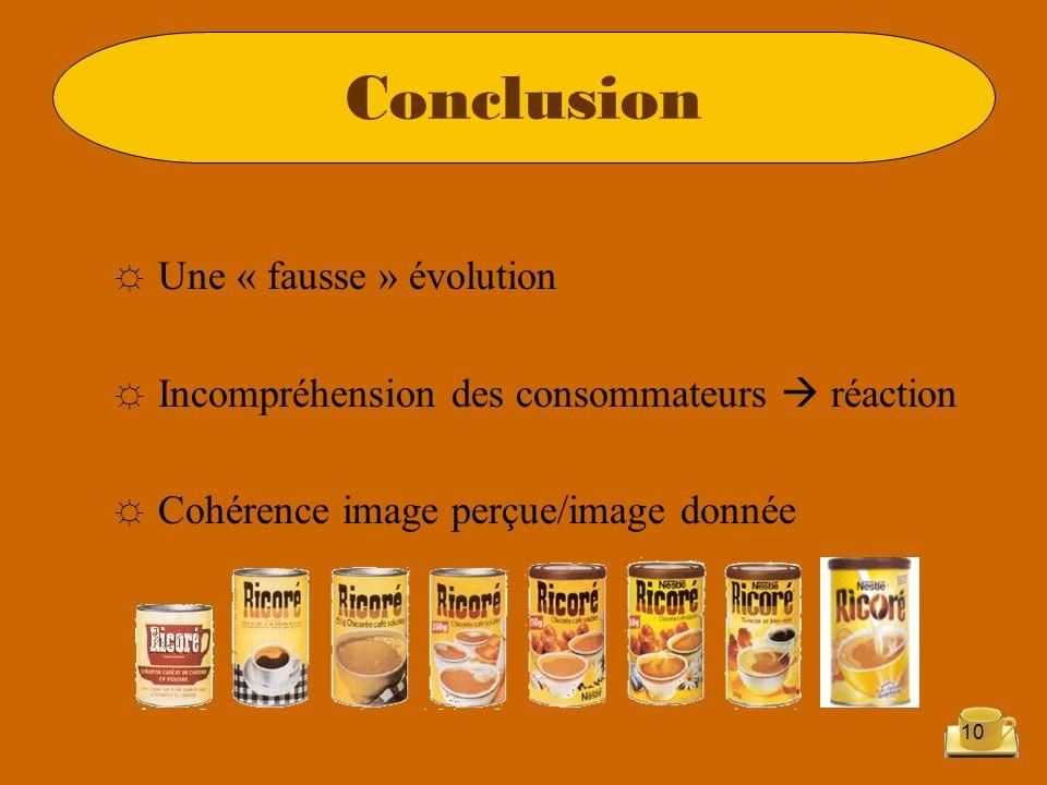 Conclusion Une « fausse » évolution