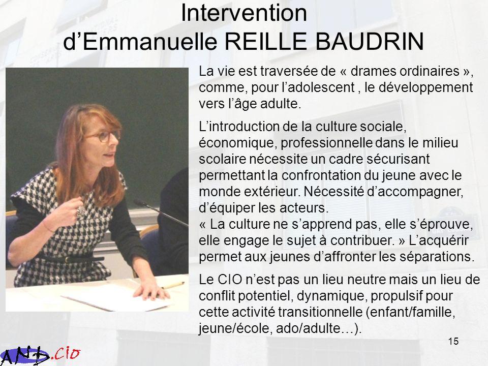 Intervention d'Emmanuelle REILLE BAUDRIN