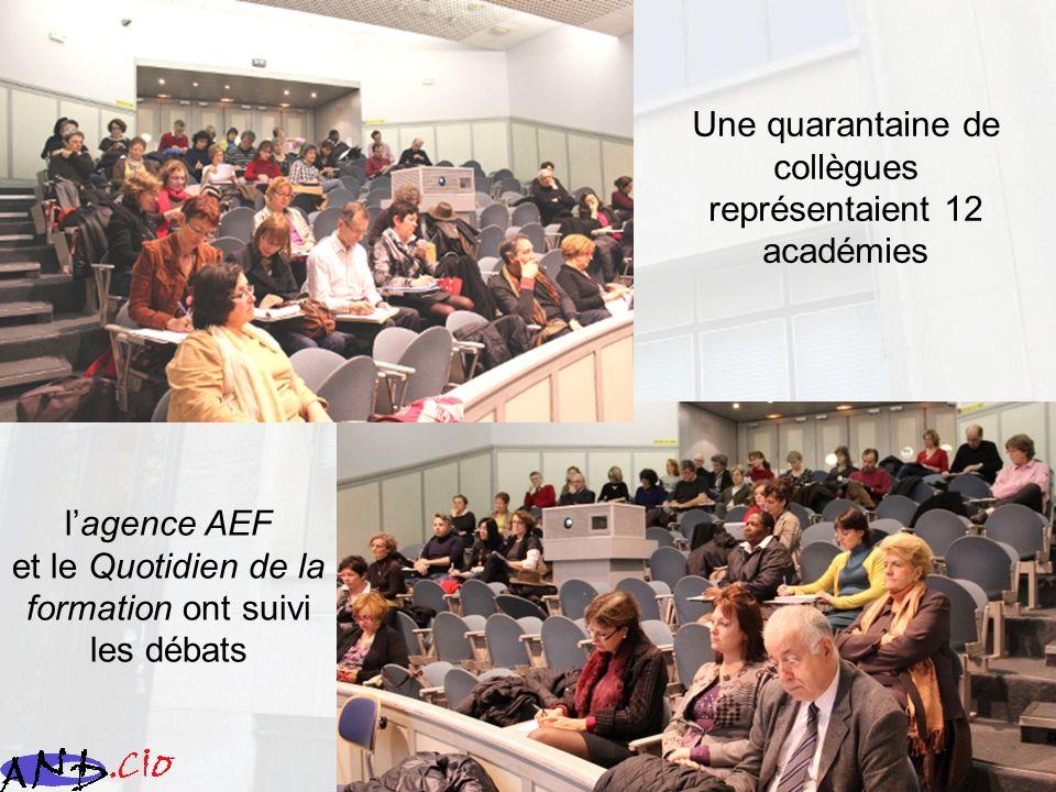 Une quarantaine de collègues représentaient 12 académies