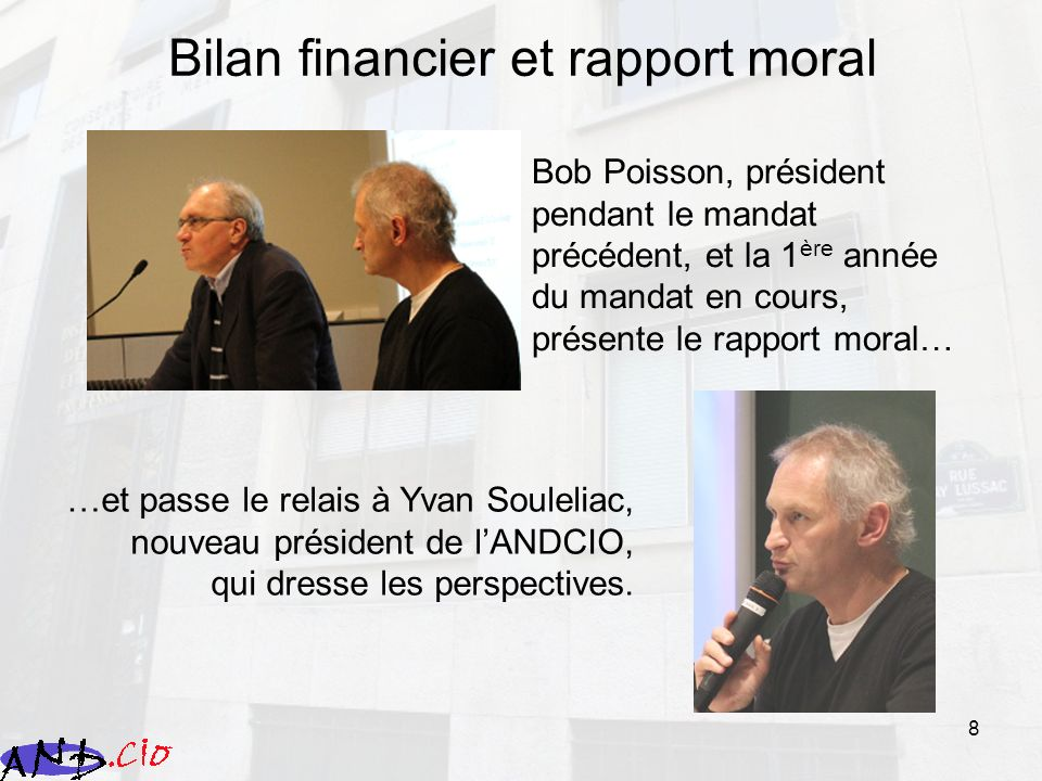 Bilan financier et rapport moral
