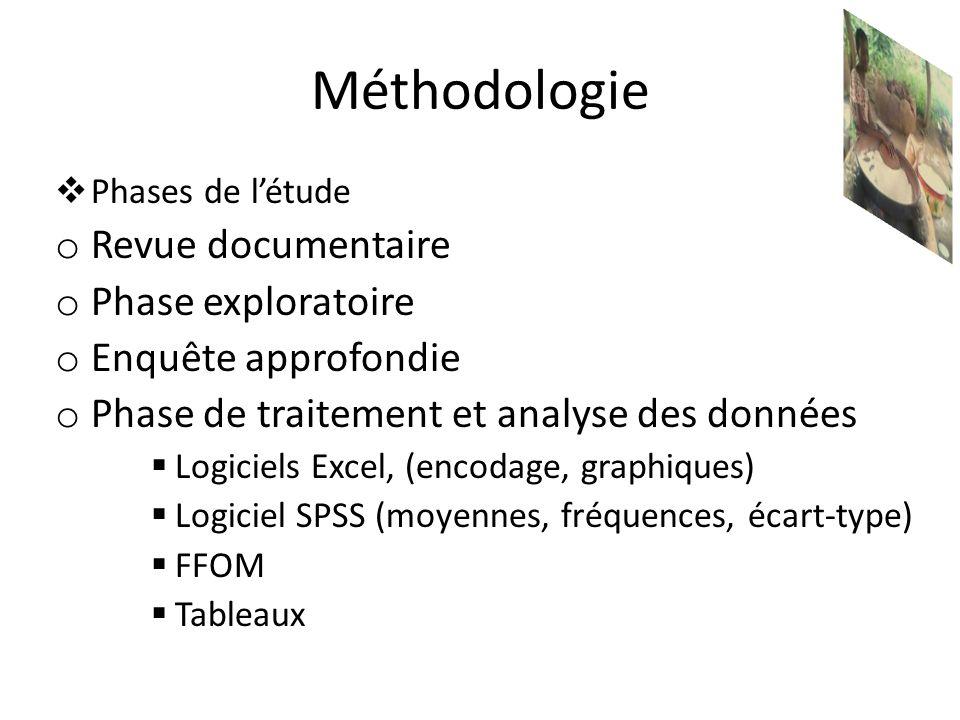 Méthodologie Revue documentaire Phase exploratoire Enquête approfondie