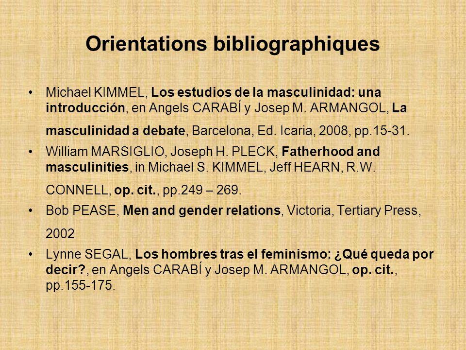 Orientations bibliographiques