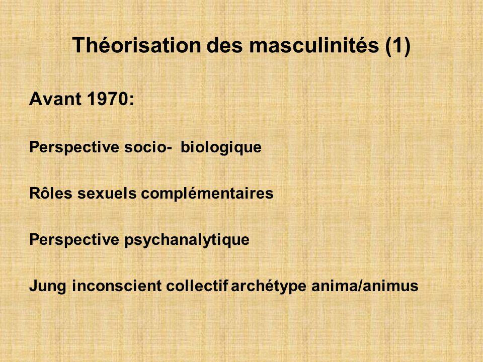 Théorisation des masculinités (1)