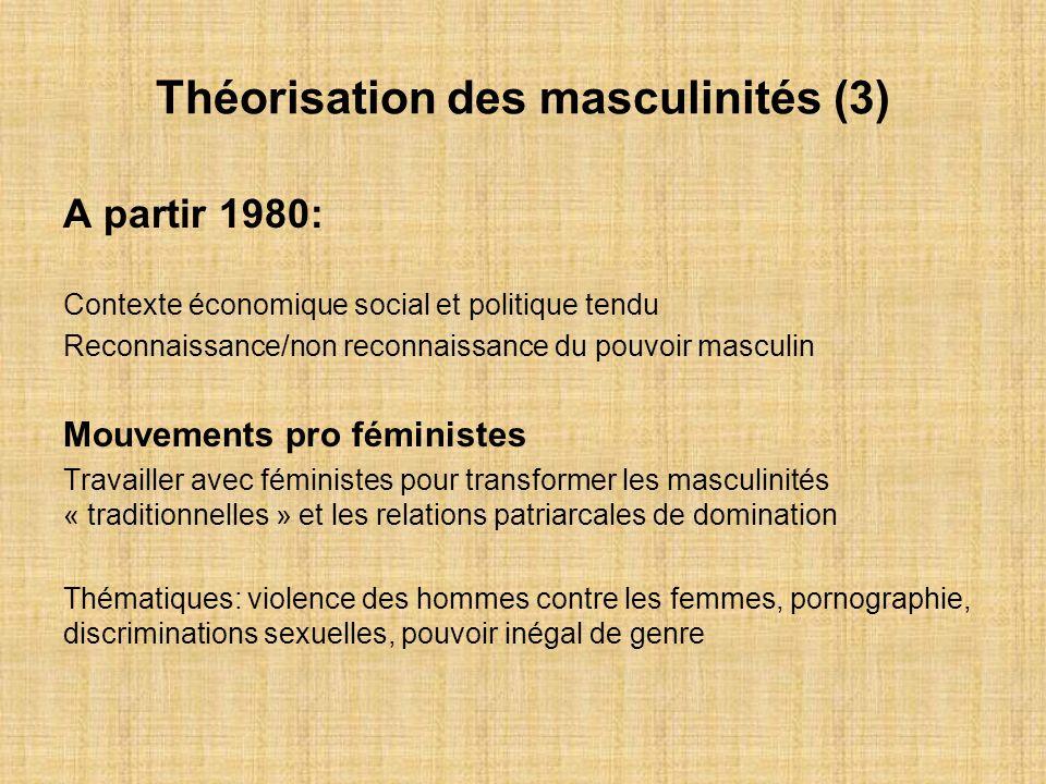 Théorisation des masculinités (3)