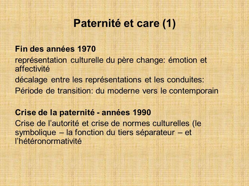 Paternité et care (1) Fin des années 1970