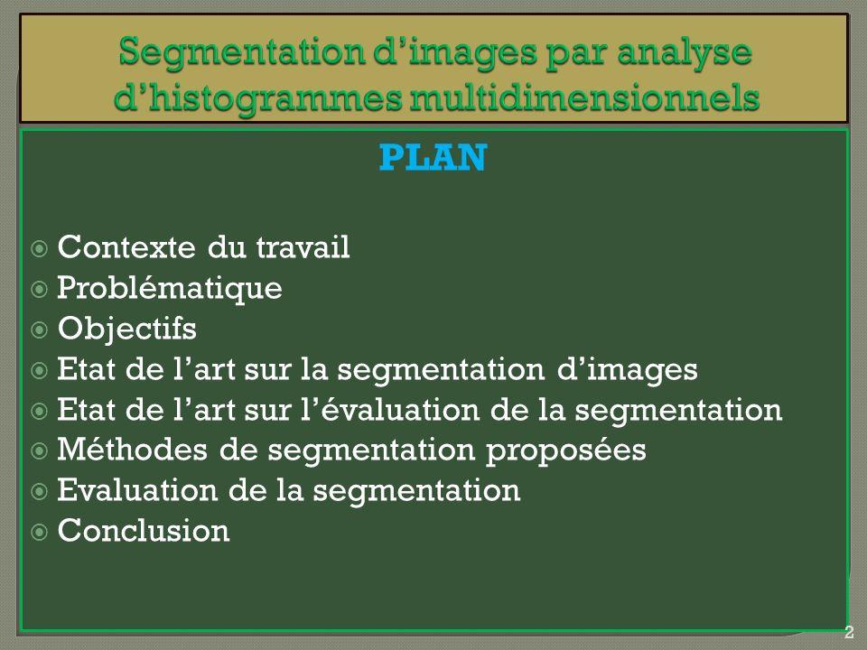 Segmentation d'images par analyse d'histogrammes multidimensionnels