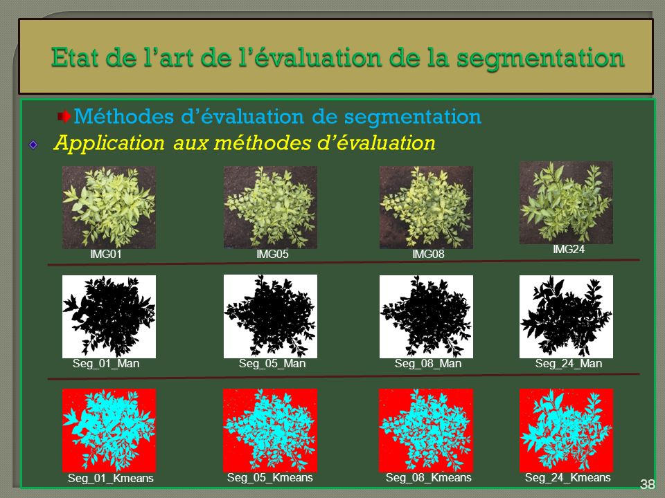Etat de l'art de l'évaluation de la segmentation