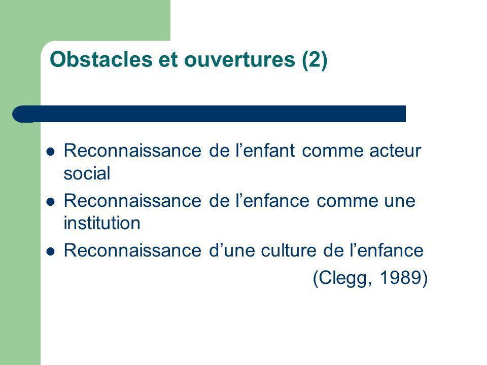 Obstacles et ouvertures (2)