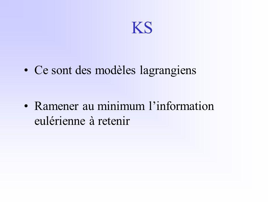 KS Ce sont des modèles lagrangiens