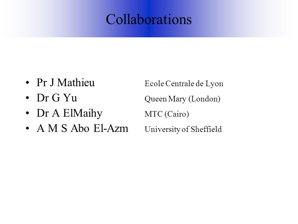 Collaborations Pr J Mathieu Ecole Centrale de Lyon