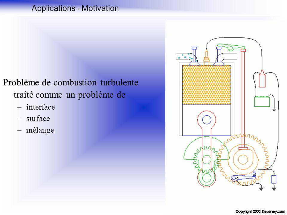 Problème de combustion turbulente traité comme un problème de