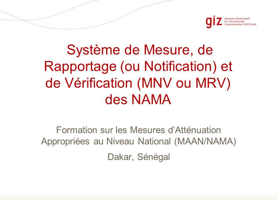 Système de Mesure, de Rapportage (ou Notification) et de Vérification (MNV ou MRV) des NAMA