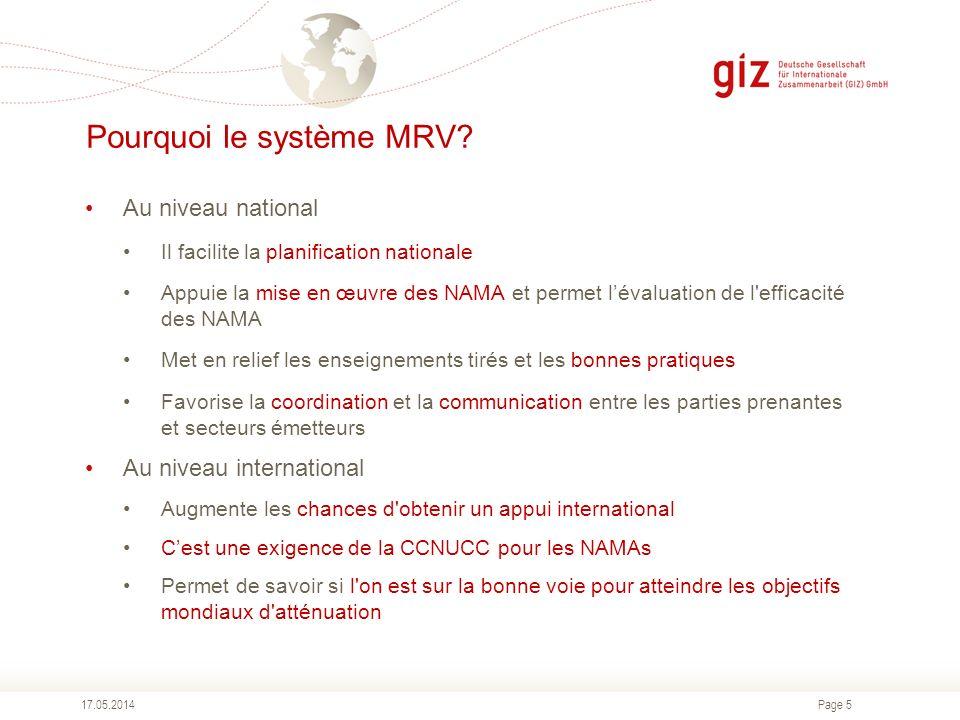 Pourquoi le système MRV