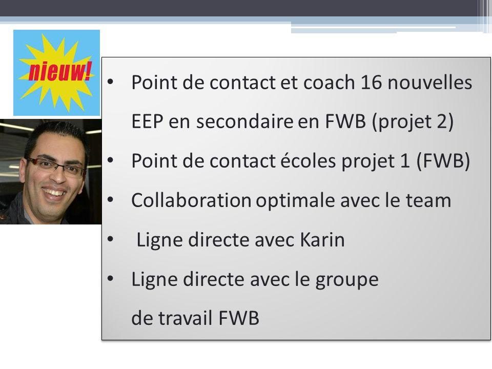 Point de contact et coach 16 nouvelles EEP en secondaire en FWB (projet 2)